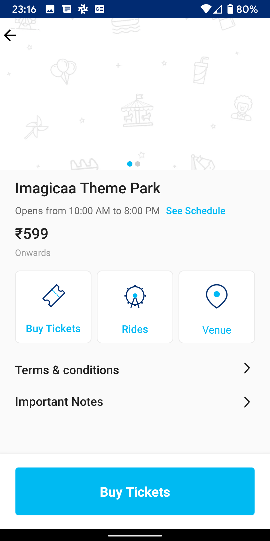 Paytm amusement parks android and ios app